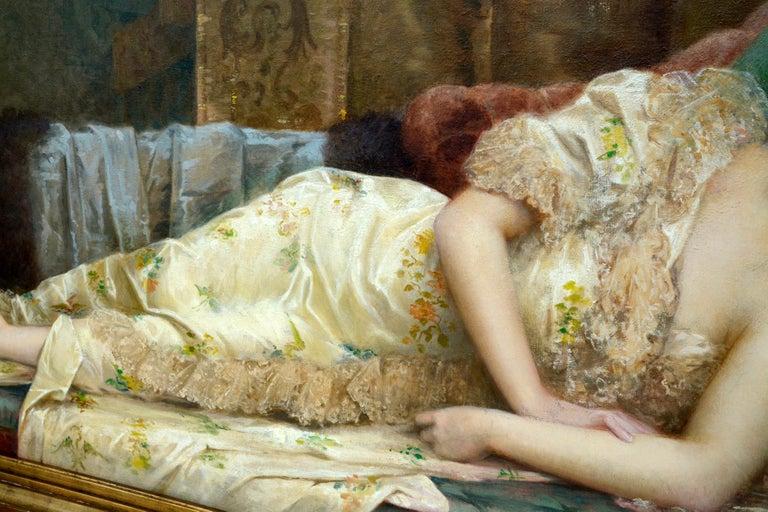 Canvas Paul Prosper Tillier, a Sleeping Beauty, 1870s For Sale