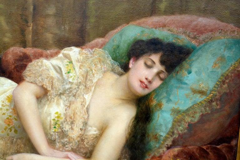 Paul Prosper Tillier, a Sleeping Beauty, 1870s For Sale 1
