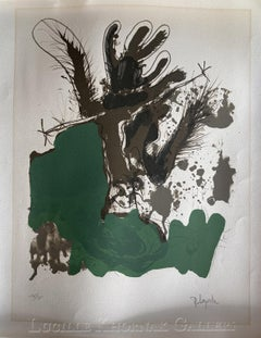 (Abstract bird - Green, Black and Brown)