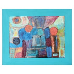 Colorful Abstract Landscape Painting of Balloons