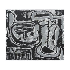"""""""Enigma"""" Abstract Black and Grey Painting"""