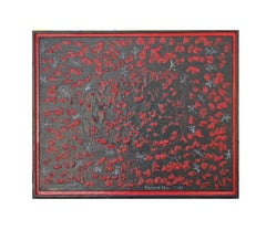 """""""Pollution"""" Red and Black Abstract Painting"""