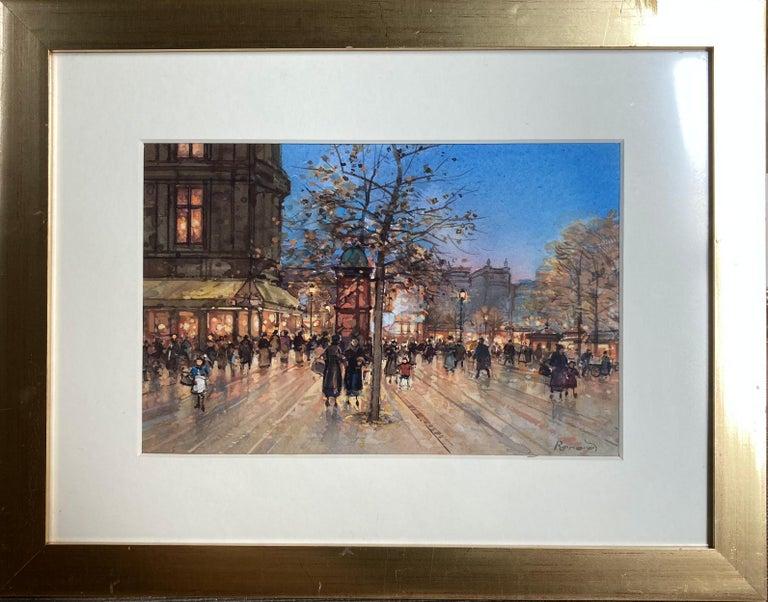 Paris Promenade - Painting by Paul Renard