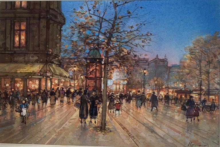 Paul Renard Figurative Painting - Paris Promenade