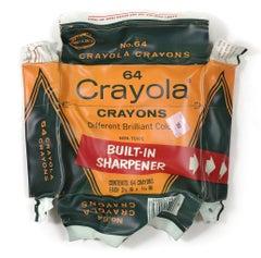 64 Crayola, Paul Rousso Pop-Art Crayons Hanging Sculpture Box Mixed Media