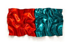 Opposites Attract, Paul Rousso Pop-Art Red Green Sculpture Liquid High Gloss