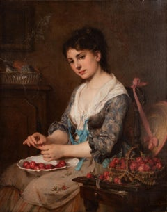Young French Girl with Strawberries,