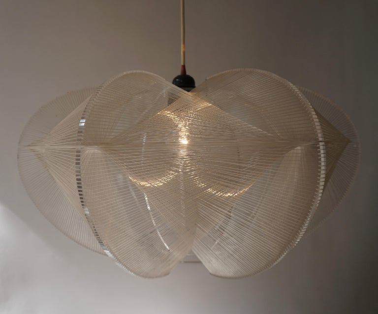 Paul Secon for Sompex-Clear Wire Pendant Lamp, 1970s For Sale 10
