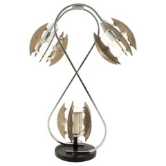 Paul Secon for Sompex Midcentury String and Chrome Lamp