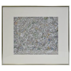 Paul Slapion 'American, 20th Century' Mixed-Media Abstract Painting, circa 1985