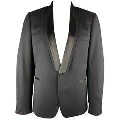 PAUL SMITH Black Solid Wool Size 44 Shawl Collar Sport Coat