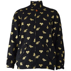 Paul Smith Men's Gold Brocade Harrington Jacket