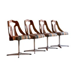 Paul Smith Ottoman Maharam Dining Chairs Set of Four circa 1960s Magnificent Set