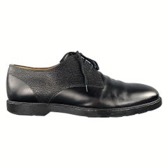 PAUL SMITH Size 11 Black Textured Leather Upper Lace Up Derbys Shoes