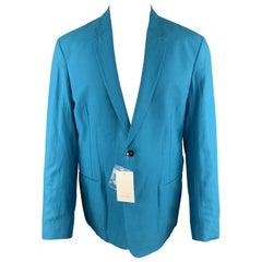 PAUL SMITH Size 42 Aqua Notch Lapel Sport Coat
