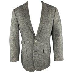 PAUL SMITH Size 42 Nailhead Grey Wool / Cashmere Notch Lapel Sport Coat