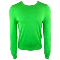 PAUL SMITH Size S Green Merino Wool Crew-Neck Pullover Sweater