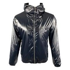 PAUL SMITH Size S Navy Nylon Zip Up Hooded Zip Up Jacket