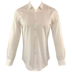 PAUL SMITH Size S White Cotton Button Up Pointed Collar Long Sleeve Shirt
