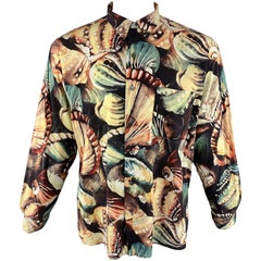 PAUL SMITH Size XL Print Multi-Color Cotton Button Up Long Sleeve Shirt