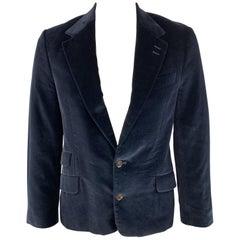 PAUL SMITH The Westbourne Size 42 Navy Velvet Notch Lapel Sport Coat