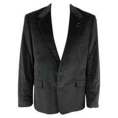 PAUL SMITH The Westbourne Size 44 Black Corduroy Notch Lapel Sport Coat