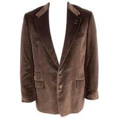 PAUL SMITH The Westbourne Size 44 Brown Velvet Notch Lapel Sport Coat