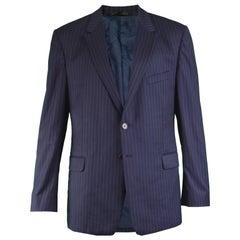 Paul Smith The Willoughby Men's Navy Blue Pinstripe Blazer Jacket