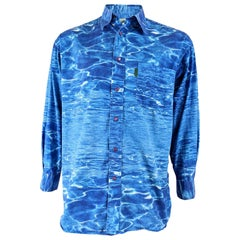 Paul Smith Vintage Mens Ocean Print Shirt, 1990s