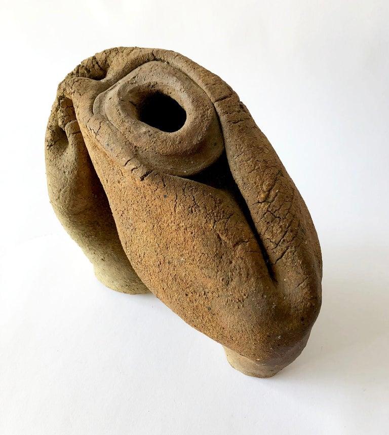 Mid-Century Modern Phil Cornelius Charcoal Fire Stoneware California Studio Vase Vessel For Sale