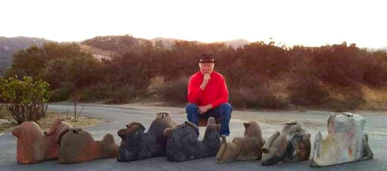 Phil Cornelius Charcoal Fire Stoneware California Studio Vase Vessel For Sale 3