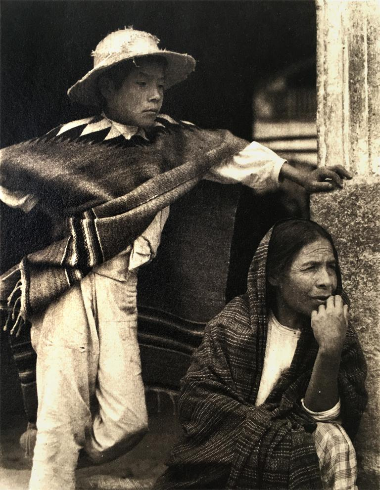 Boy with Old Woman