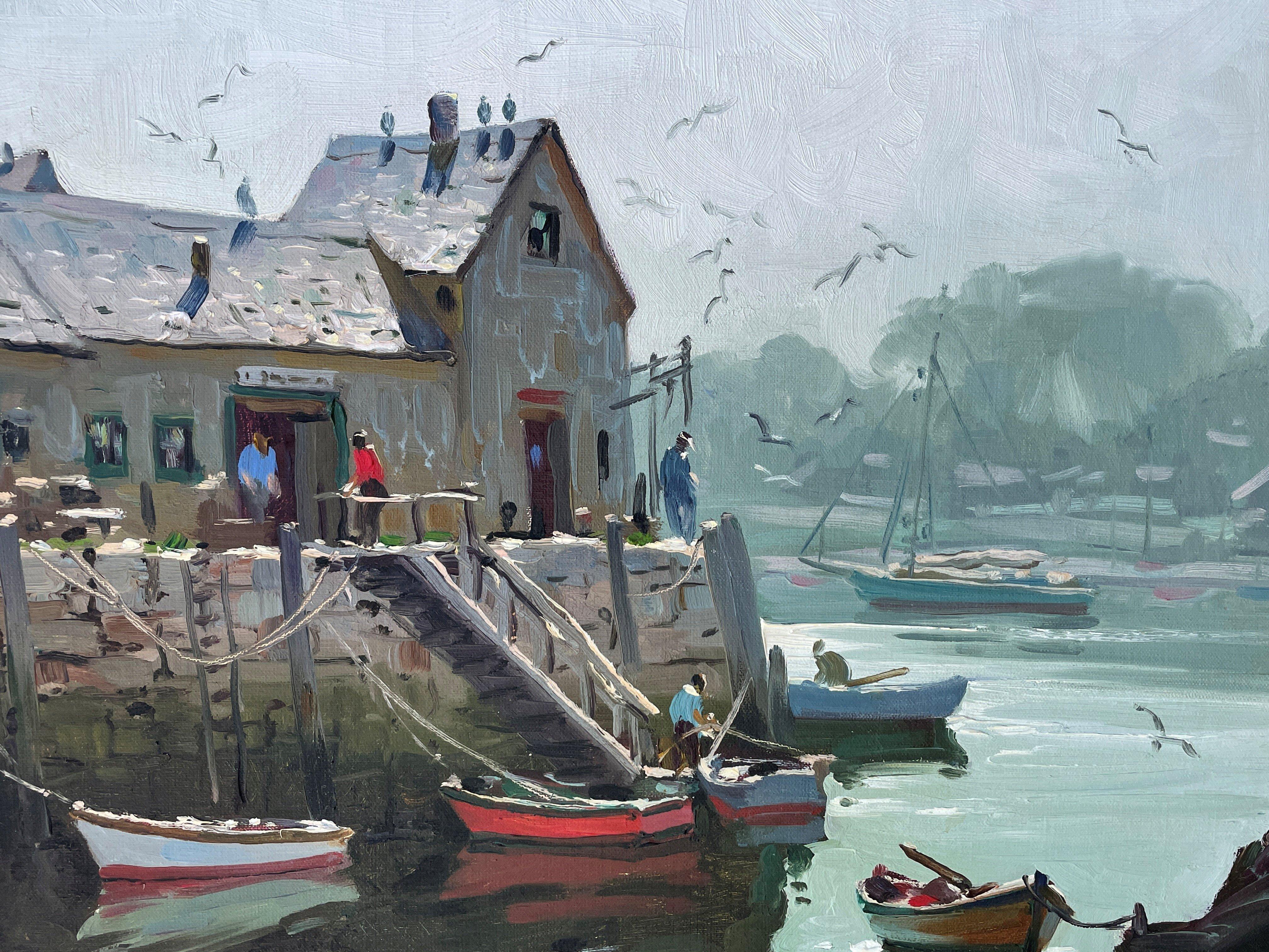 """Motif No. 1, Rockport, Massachusetts,"" Paul Strisik, New England Boats and Dock"