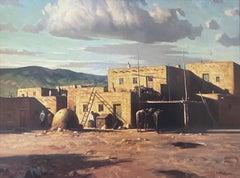 """Taos Pueblo"" New Mexico Scene"
