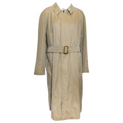 Paul Stuart Beige Belted Raincoat