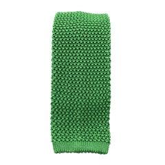 PAUL STUART Bright Green Silk Textured Knit Tie