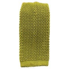 PAUL STUART Chartreuse Silk Textured Knit Tie
