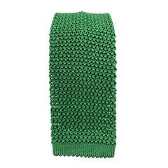 PAUL STUART Dark Green Silk Textured Knit Tie