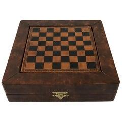 Paul Stuart Leather Chess Set