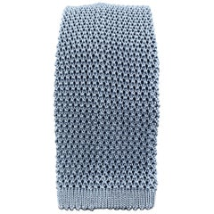 PAUL STUART Light Blue Silk Textured Knit Tie