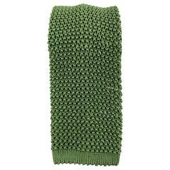 PAUL STUART Light Olive Green Silk Textured Knit Tie