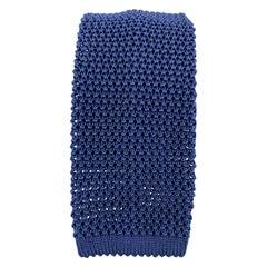 PAUL STUART Navy Blue Silk Textured Knit Tie
