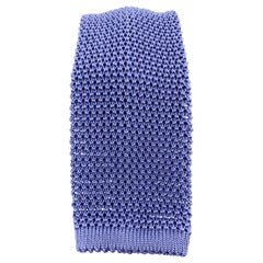 PAUL STUART Periwinkle Silk Textured Knit Tie