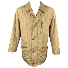 PAUL STUART Size S Taupe Quilted Gore-Tex Nylon Parka Jacket