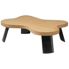 Paul T. Frankl Cocktail Table in Cork and Mahogany, United States, circa 1951