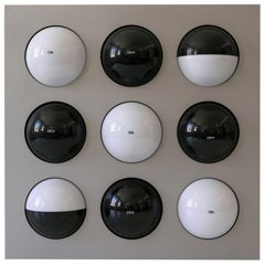 Paul Talman On/Off Light Object or Wall Lamp Fifty Fifty by Interaktives Licht
