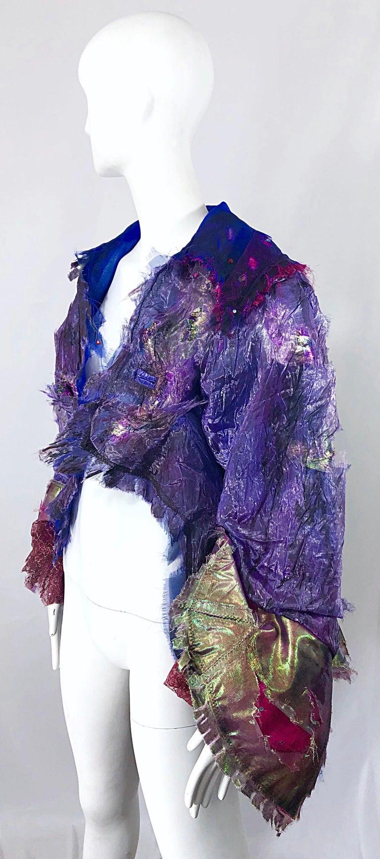 Paul Tazewell Tony Award Winner OOAK Purple Pink Rhinestone Custom Jacket For Sale 6