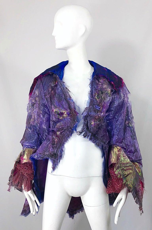 Paul Tazewell Tony Award Winner OOAK Purple Pink Rhinestone Custom Jacket For Sale 8