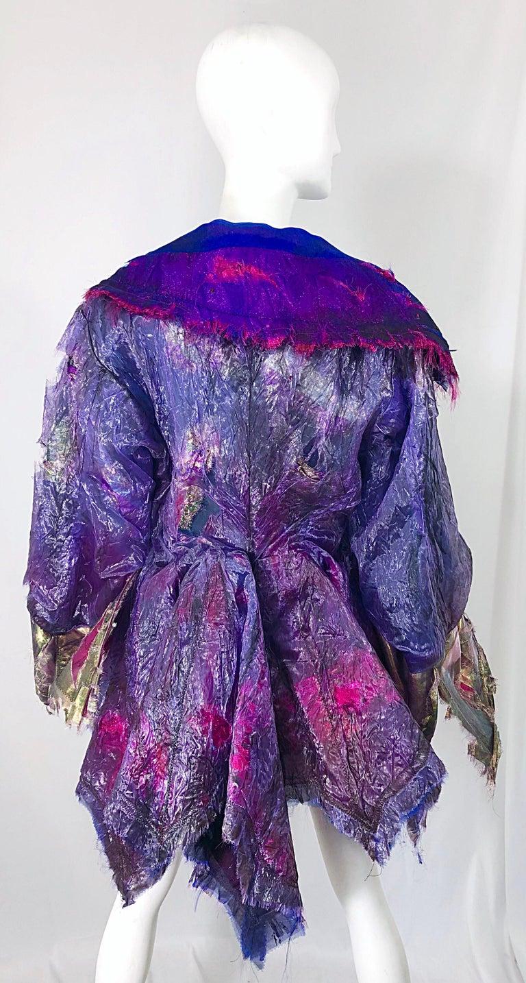 Paul Tazewell Tony Award Winner OOAK Purple Pink Rhinestone Custom Jacket In Good Condition For Sale In Chicago, IL