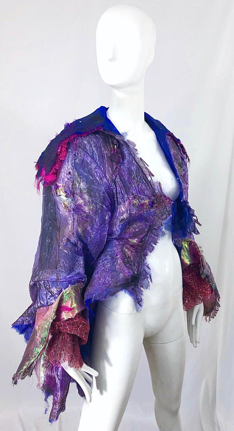 Paul Tazewell Tony Award Winner OOAK Purple Pink Rhinestone Custom Jacket For Sale 1